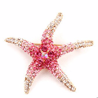 Brooch Starfish Pink
