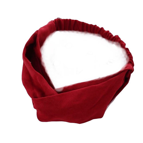 Twist Elastic Headband in Wine