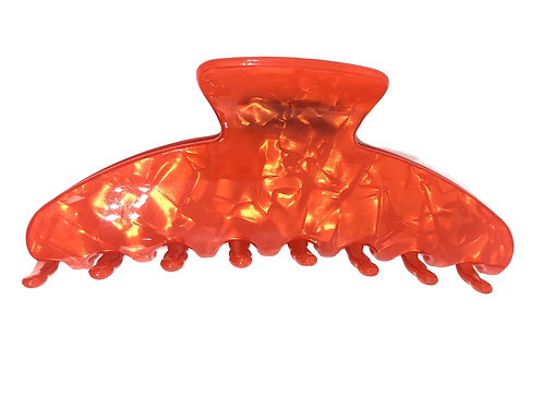 WS Premium extra large hair claw in Orange Pearl 728238947279