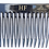Thumbnail: Premium Black acetate hair comb now with Black crystals