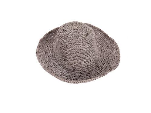Woven Foldable Sunhat- Grey