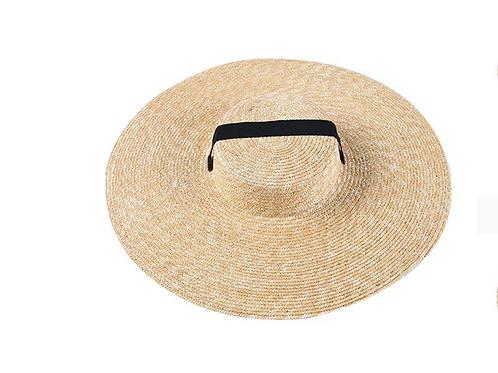 100% Wheat Straw Ribbon Hat -Natural
