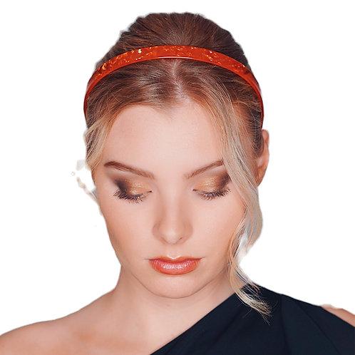 Premium Acetate Headband - 1.5cm - Orange Pearl