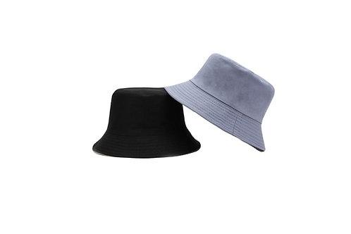 Bucket Hat - reversible- BlueGrey/White