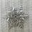 Thumbnail: Angora Blend Beanie with SnowFlake- White