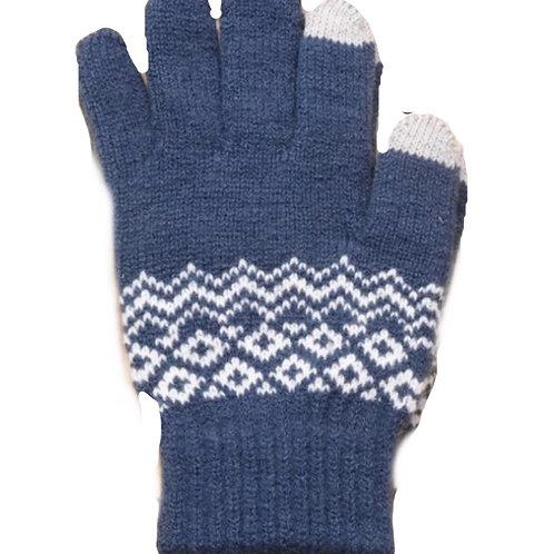 Touchscreen Gloves- Swiss Blue