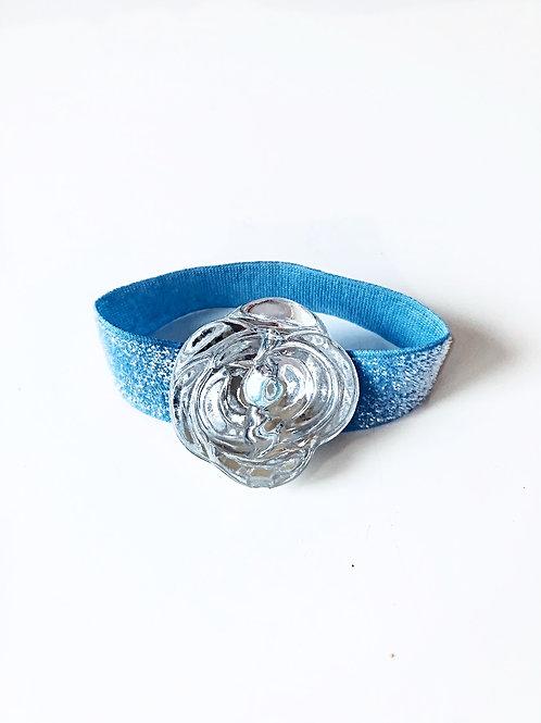 Crystal Flower - Glitter Blue  Band