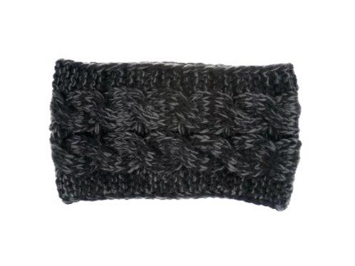 Knitted Headband - Black/Grey