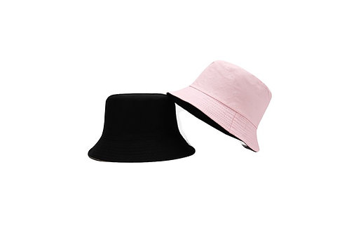 Bucket Hat - reversible- Pink/Black