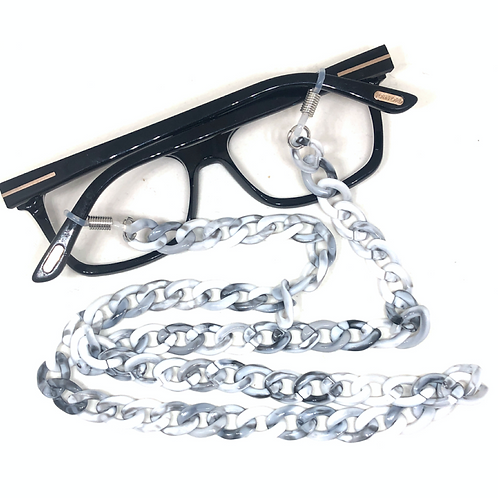 Sunglass Chain - Grey and White