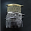 Thumbnail: Hair comb Metal - silver