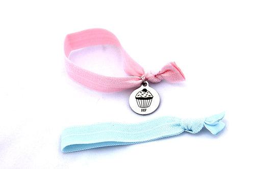 Charm Tie- Cupcake Pastel Pink & Pastel Blue