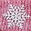 Thumbnail: Angora Blend Beanie with SnowFlake- Red