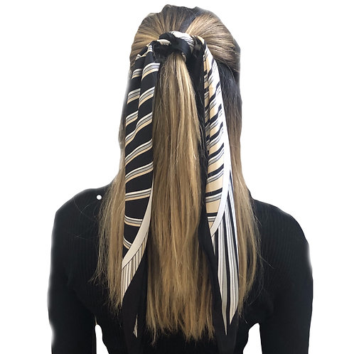 HairScarf - Polo -Black/White strip