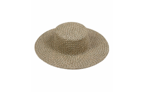 100% Seagrass Woven handmade Boater with Optional Grossgrain Ribbon