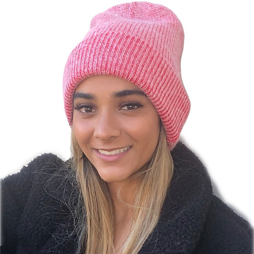 Angora Blend Slouch beanie- Red