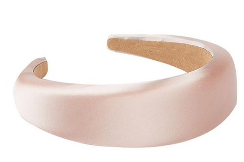 Satin Padded Headband -light pink