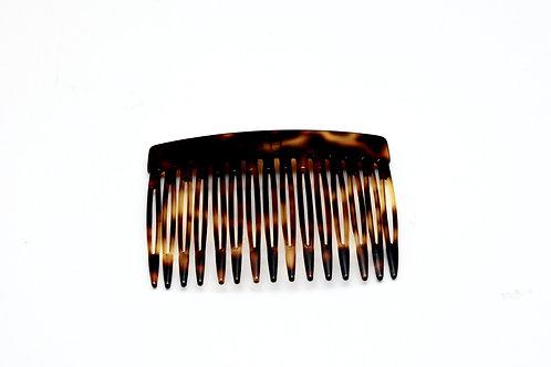 Acetate hair comb in dark Tortoise