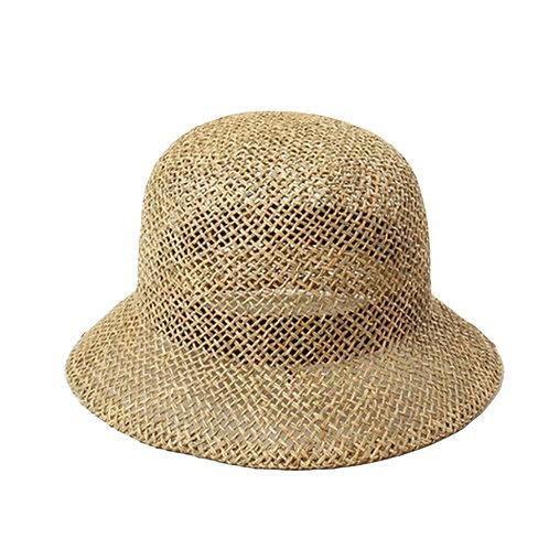100% Seagrass Woven handmade Cloche Hat