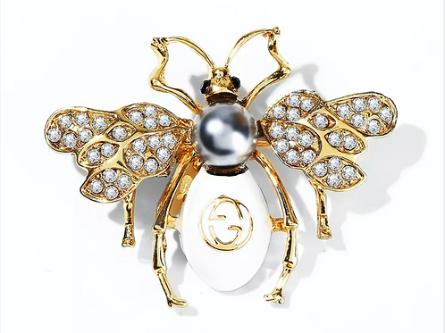 Brooch French Black Pearl Bee