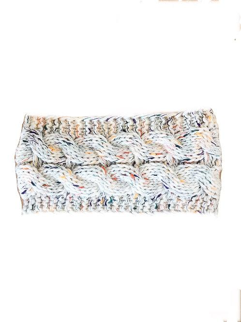 Knitted Cable Woolblend Headband - Oatmeal Fleck