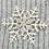 Thumbnail: Angora Blend Beanie with SnowFlake- Grey