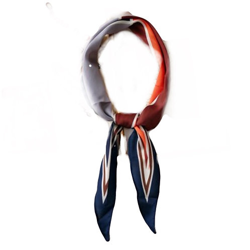 HairScarf - Polo - Navy/Red