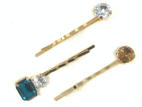 Hairpins - Blue Gems
