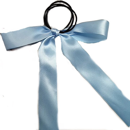 Pre- tied satin  Ribbon 2.5cm -Blue