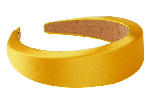 Satin Padded Headband -yellow