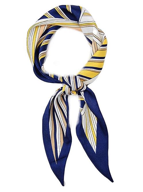 HairScarf - Polo -Navy/yellow strip