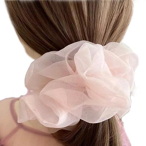 Scrunchie Oversized Transparent - Musky Pink