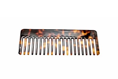 Acetate Hair Comb - detangle -Dark Tortoise