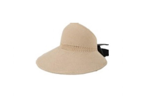 Visor Foldable with Ribbon - Beige