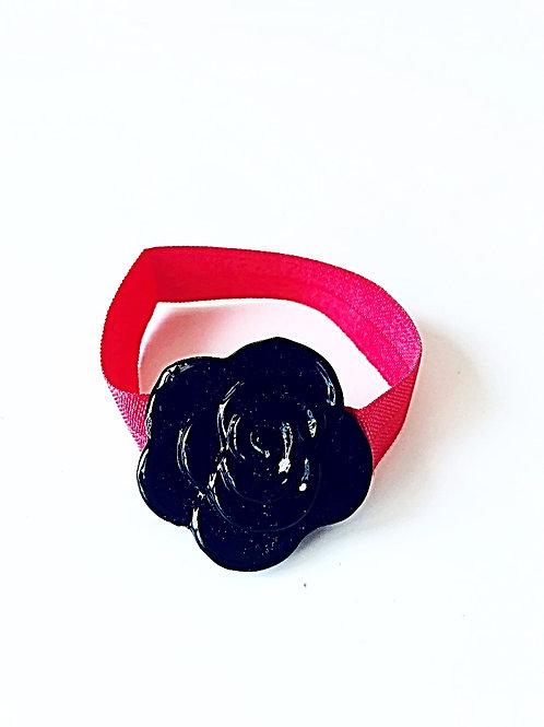 Black Crystal Flower - Coral band