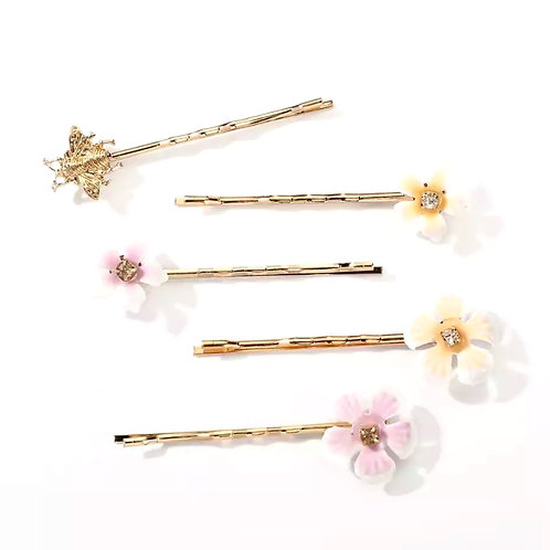 Hairpins - Bees & Flowers