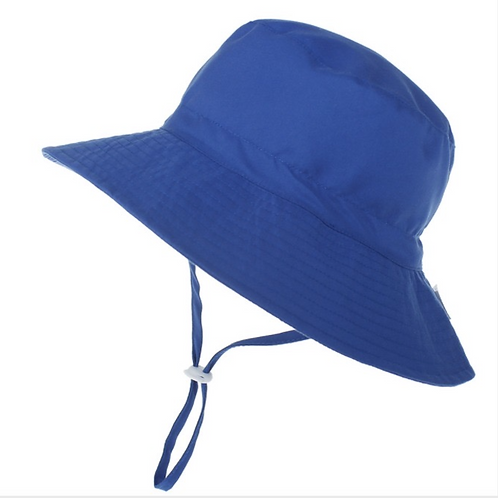 Royal Blue kids Bucket Wide Brim-  Toggle -age 3-6