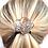 Thumbnail: Champagne Crystal Flower - Black Band