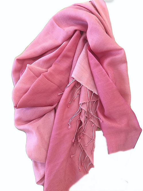 Scarf - Cashmere/ Mulberry Silk Scarf - Pirouette Pink/Pink