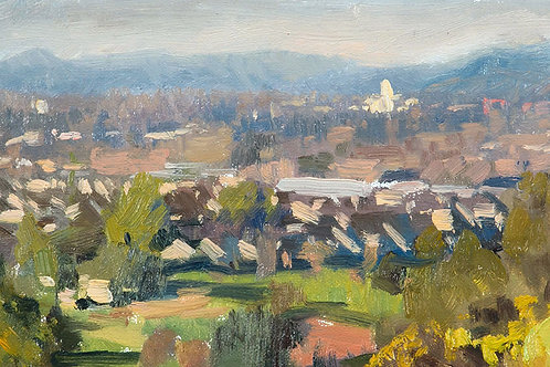 """""""Taylor Mountain(study)"""" Oil on canvas board."""