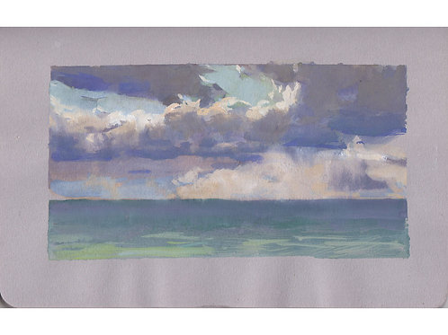 Paint Drip #22: Arch Cape Clouds In  Gouache
