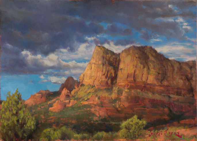 """13.375x9.625 inches""""Sedona_Storm_Clouds"""""""