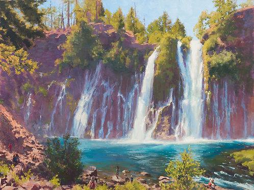 """Roaring 129 (Burney Falls)"" 10x13 in. Print"