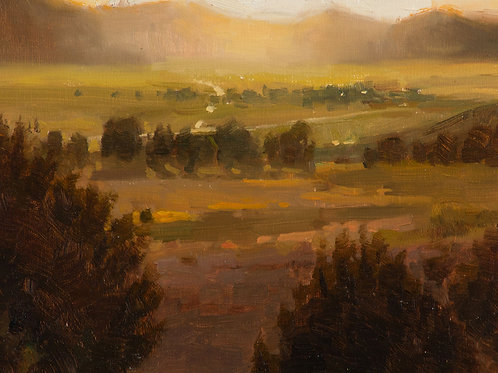 """Moody Study, Bridgeport California"", 6x8"" oil painting on linen board"