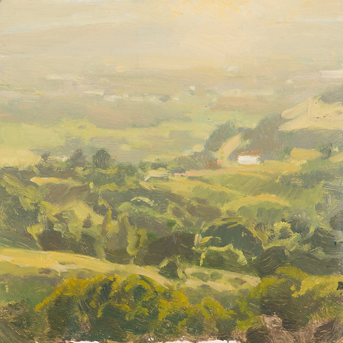 Sonoma Mountain View - Oil Painting On Panel