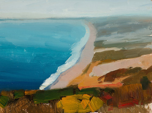 """""""10 Mile Beach, Point Reyes"""", 6x8"""" oil painting on linen board"""