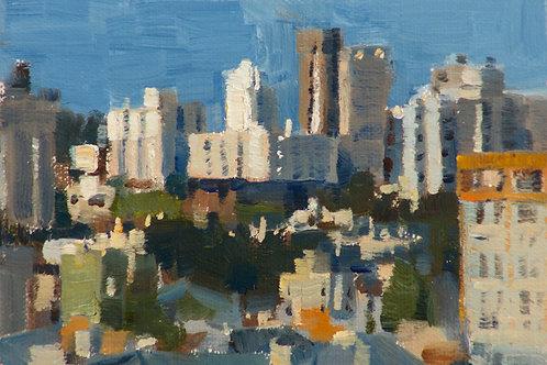 """Alamo Square View, San Francisco"", 4x6"" oil painting on linen"