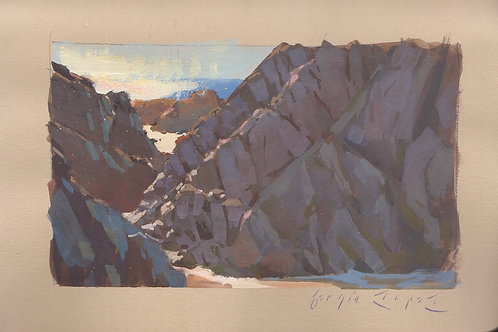 Paint Drip #130 Bodega Head Beach Rocks
