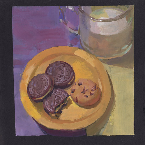 Paint Drip #101 Milk And Cookies