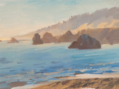 View From Jenner - Oil Painting (linen on panel)
